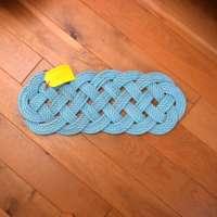 Ocean Runner Floor Mat in Turquoise with Pink Fleck thumbnail