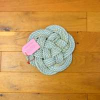 Thump Table Mat in Turquoise with Green Fleck thumbnail