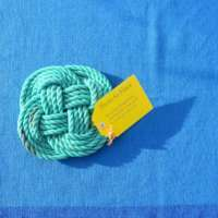 Green Turks Head Table Mat thumbnail