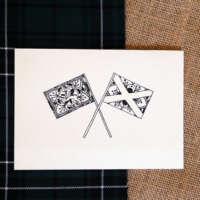 bScottish Flags Mandala Card thumbnail