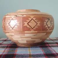 Segmented Vase in Spalted Beech thumbnail
