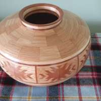 Segmented Vase with Indian Blanket Feature in Oak thumbnail