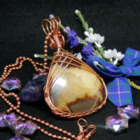 Septarian Teardrop in Copper Necklace thumbnail
