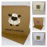Pack of 4 Seasons Bleatings Christmas Cards thumbnail