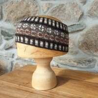Peerie Headband Shetland Black Natural thumbnail