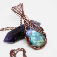Blue Labradorite Necklace thumbnail