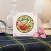 Celtic Knot Stag Greeting Card thumbnail