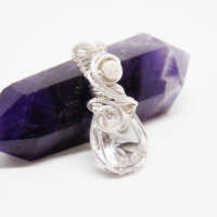 Sterling Silver and Faceted Quartz Pendant thumbnail