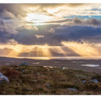 Sunrays on Skye from the Bealach na Ba thumbnail