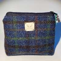 Dark Blue Harris Tweed Handy Bag thumbnail