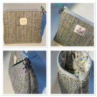 Beige Harris Tweed Handy Bag thumbnail