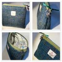 Green Harris Tweed Handy Bag thumbnail