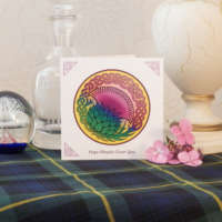 Celtic Knot Thistle Greeting Card thumbnail