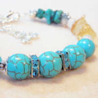 Synthetic Turquoise Memory Wire Bracelet thumbnail