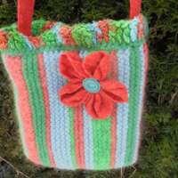 Buoys in the Bay Crocheted Handbag thumbnail