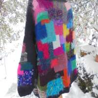 Hand-Knitted Bright and Beautiful Jumper thumbnail