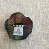 Autumnal Coloured Tweed Brooch thumbnail