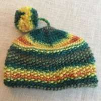 Orange and Green Wool Hat thumbnail