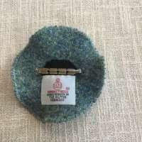 Silver and Green Harris Tweed Brooch thumbnail