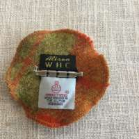 Orange and Copper Harris Tweed Brooch thumbnail