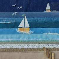 """With the Wind in our Sails"" Textile Seascape thumbnail"