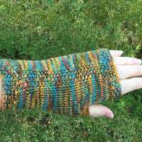 Turquoise, Orange and Green Hand Warmers thumbnail