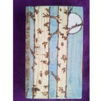 Rectangular Moonlit Birch Trees - Long thumbnail