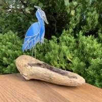 Blue Heron on Driftwood thumbnail