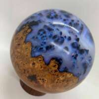 Blue Resin and Wood Sphere thumbnail