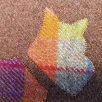 Brown Harris Tweed Cushion with Scottie Dog Appliqué thumbnail
