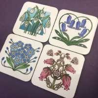 Set of Celtic Flower Coasters thumbnail