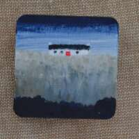 Cottage with Grey Field Brooch thumbnail
