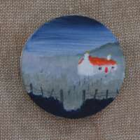 Cottage with Red Roof Brooch thumbnail