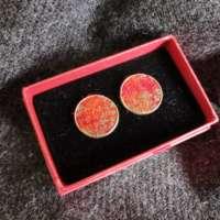 Orange Harris Tweed Cufflinks thumbnail