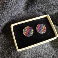 Rainbow Harris Tweed Cufflinks thumbnail