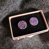 Purple Harris Tweed Cufflinks thumbnail