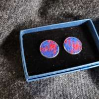 Blue Harris Tweed Cufflinks thumbnail