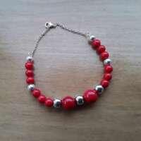 Red Coral Stretch Bracelet thumbnail