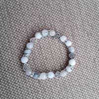 White Jade and Hearts Bracelet thumbnail