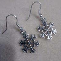 Snowflake Charm Earrings thumbnail