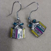 Christmas Present Charm Earrings thumbnail