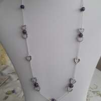 Valentine Hearts Necklace with Amethyst thumbnail