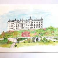 Original Watercolour of Dunrobin Castle thumbnail