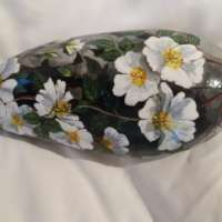 Painted Stone with Flowers thumbnail