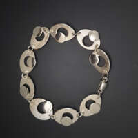 Circles Within Ovals Silver Bracelet thumbnail