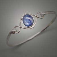 Blue Shimmer Silver Bracelet thumbnail