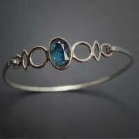 Blue in Silver Bangle thumbnail