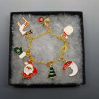 Children's Gold Plated Charm Bracelet thumbnail