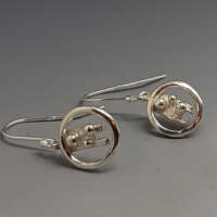Circle of Texture Silver Earrings thumbnail