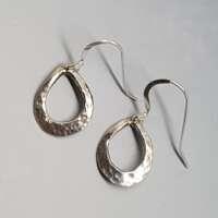 Closed Horseshoe Silver Earrings thumbnail